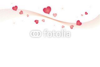 バレンタインハートの背景イラスト